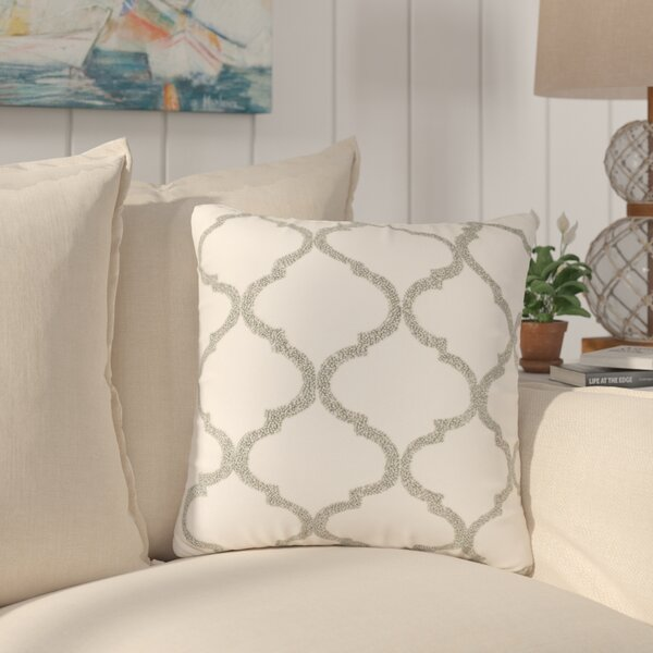 Hensen Moroccan Design Beaded 100% Cotton Throw Pillow by Beachcrest Home